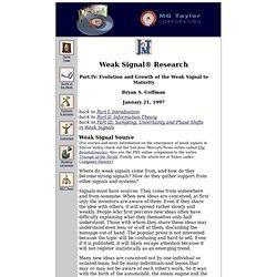 weak signal research 4