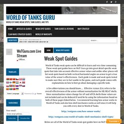 Weak Spot Guides - World of Tanks Guru