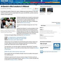 Al-Qaeda's effect weakens in Mideast