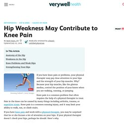 How Hip Weakness May Contribute to Knee Pain