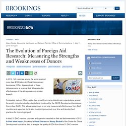 The Evolution of Foreign Aid Research: Measuring the Strengths and Weaknesses of Donors