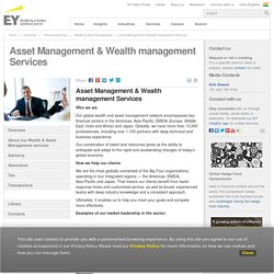 About our wealth and asset management services - EY - India