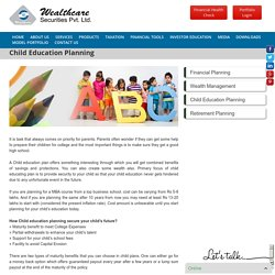 For Best Education - Child Education Plan