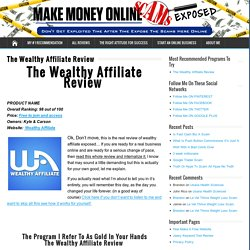 Wealthy Affiliate Review -