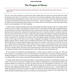 The Weapon of Theory by Amilcar Cabral