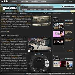 Weapons in GTA V
