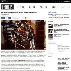 Are Weapons and Suits of Armor the Future of MMA?