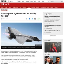 US weapons systems can be 'easily hacked'