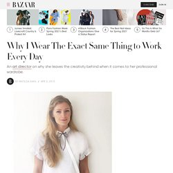 Why I Wear The Exact Same Thing to Work Every Day