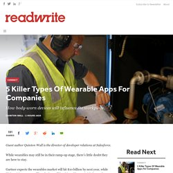 5 Killer Types Of Wearable Apps For Companies - ReadWrite