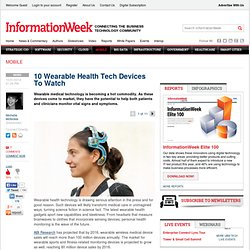 10 Wearable Health Tech Devices To Watch