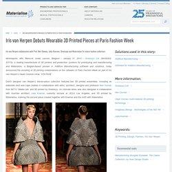 Iris van Herpen Debuts Wearable 3D Printed Pieces at Paris Fashion Week