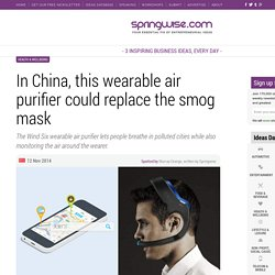 In China, this wearable air purifier could replace the smog mask