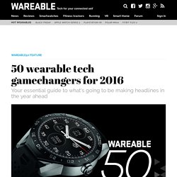50 wearable tech gamechangers for 2016