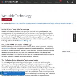 Wearable Technology Definition