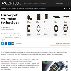 The history of wearable technology –raconteur.net