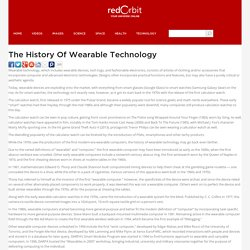 The History Of Wearable Technology - Redorbit