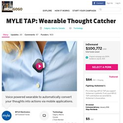 MYLE TAP: Wearable Thought Catcher
