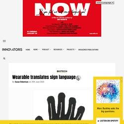 Wearable translates sign language