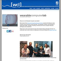 [WCL] Wearable Computer Lab, University of South Australia
