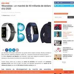 Wearables : un marché de 40 milliards de dollars d'ici 2020