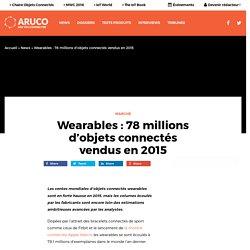 Wearables : 78 millions d'objets connectés vendus en 2015