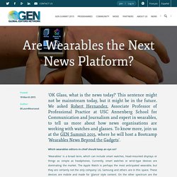 Are Wearables the Next News Platform?