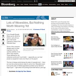 Lots of Wearables, But Nothing Worth Wearing Yet