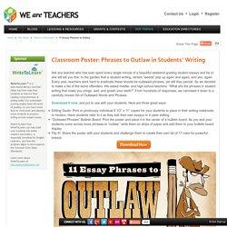 11 Essay Phrases to Outlaw - WeAreTeachers - WriteToLearn