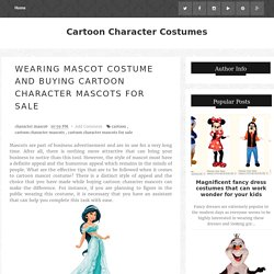 Wearing Mascot Costume And Buying Cartoon Character Mascots For Sale
