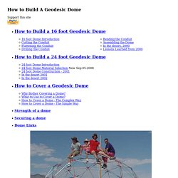How I built my Geodesic Domes