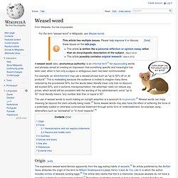 Weasel word