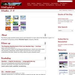 Weather, 3-4 ⋆ WebEnglish.se