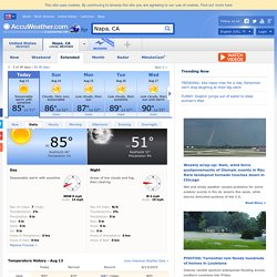 Weather in Napa - AccuWeather Forecast for CA 94559