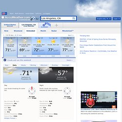 Weather in Los Angeles - AccuWeather Extended Forecast for CA 90012