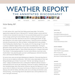 The Weather Report Annotated Discography