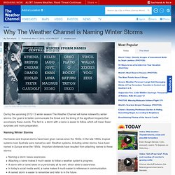 Why The Weather Channel is Naming Winter Storms