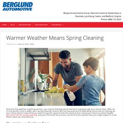 Warmer Weather Means Spring Cleaning - Berglund Cars