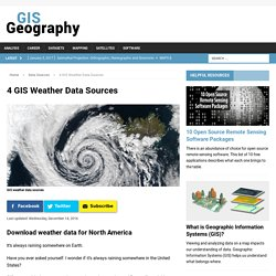4 GIS Weather Data Sources - GIS Geography