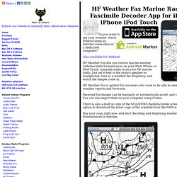 HF Weather Fax Marine Radio Fascimile Decoder App