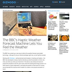 The BBC's Haptic Weather Forecast Machine Lets You Feel the Weather