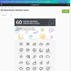 60 Hand-drawn Weather Icons by heloholo