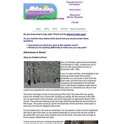 Web Weather for Kids: Adventures in Snow!
