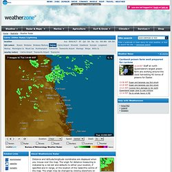 Cairns weather radar loop and lightning tracker