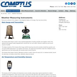 High Quality Weather Measuring Instruments by Comptus Inc