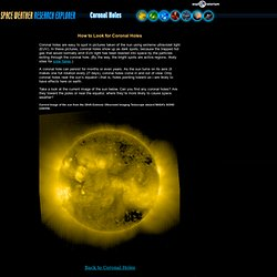 Space Weather Research Explorer: Space Weather and You