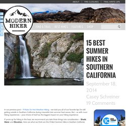 15 Best Hot Weather Hikes in Southern California