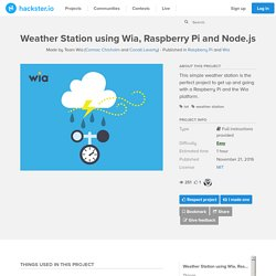 Weather Station using Wia, Raspberry Pi and Node.js