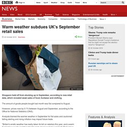 Warm weather subdues UK's September retail sales
