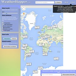 Weather Hopper - The ultimate source for worlds historical weather